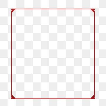 Red Chinese Style Frame New Year Border Rectangle Clipart Chinese New Year Border Border Design Png And Vector With Transparent Background For Free Download In 2021 Chinese Style Chinese New Year