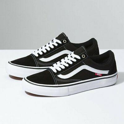 Pesimista Anuncio En respuesta a la  Vans Old Skool Pro Black White Shoes New 36 37 38 39 40 41 42 43 44 45 46  Skate | eBay in 2020 | Black and white shoes, Vans old skool, Mens vans  shoes