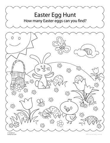 Easter Egg Hunt Printable Worksheets Activity In 2020 Easter Preschool Printable Easter Activities Easter Worksheets