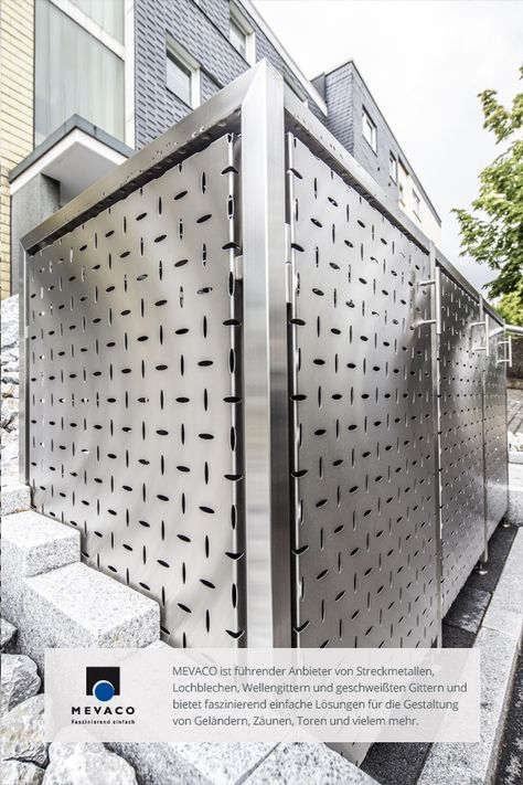 Fabulous Die Edelstahl M llboxen der JVA Remscheid aus MEVACO Lochblech Die hochwertigen M lltonnen Verkleidungen h llen ihren Inhalt gekonnt ein