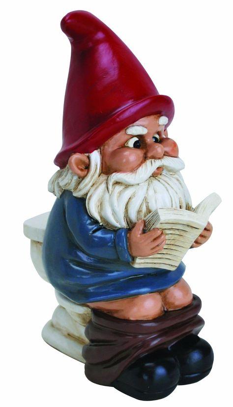Amazon.com : Big Mouth Toys Gnome on a Throne : Outdoor Statues : Patio, Lawn & Garden