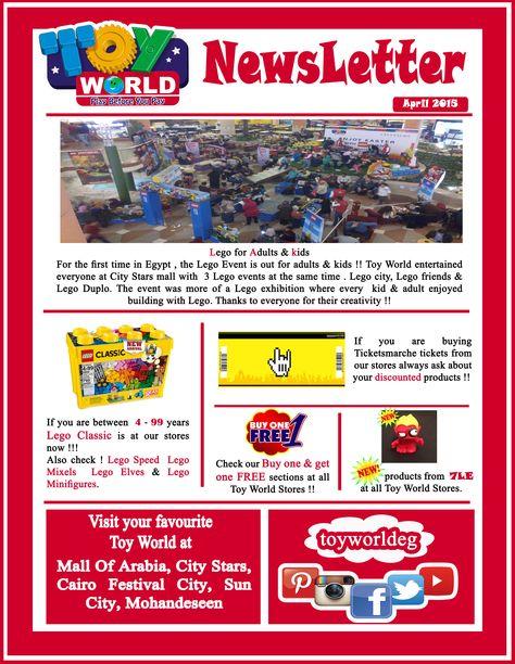 Toy world monthly newsletter .. Enjoy reading :) # Toy_World ...