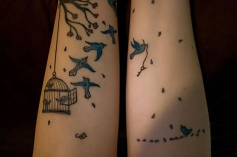 272bea09f Wendy's Bird Cage & Flying Birds Tattoos • Made Mistakes
