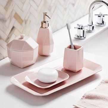 Small Bathroom Decor Bath Accessories, Pink Bathroom Accessories