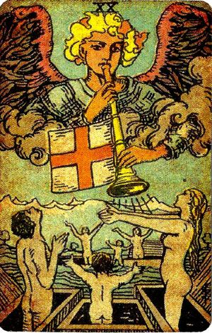 The Judgement from Pamela's Vintage Tarot Deck  For a FREE E