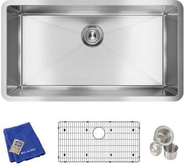 Elkay Crosstown 32 1 2 Kitchen Sink Kit Undermount Stainless Steel Sink Undermount Kitchen Sinks Sink