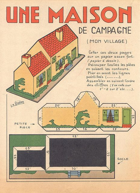 248 best play with papers images on Pinterest Paper houses, Paper - plan de maison campagne