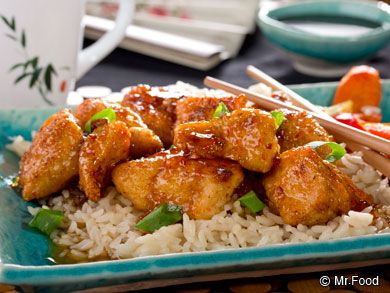 Bourbon Chicken: In a quick 25 minutes you could be feasting on some succulent Bourbon Chicken. This is way better than the stuff at the mall! :)