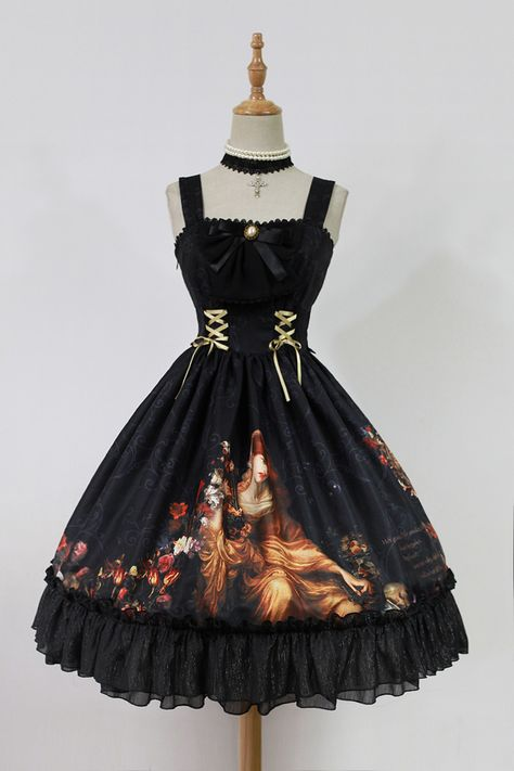 ---> #LolitaUpdate: Neverland Lolita [-⌚♫♫-The Song of Time-⌚♫♫-] JSK ---> [-✂-Custom Size Available-✂-] ---> Learn More about the JSK: http://www.my-lolita-dress.com/neverland-lolita-the-song-of-time-lolita-normal-lolita-jsk-dress-gc-223
