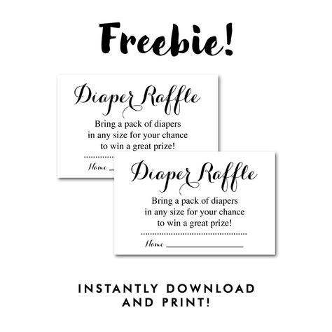 Free Printable Baby Shower Black White Insert Diaper Raffle Ticket Instant Download Instant Download Printables Baby Shower Raffle Diaper Raffle Tickets Free Baby Shower Printables