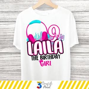 Musical Birthday Girl Iron On Images Party T Shirt Set Of Etsy In 2021 Birthday Girl T Shirt Birthday Girl Shirt Girl Birthday