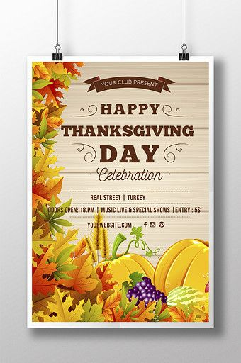 Happy Thanksgiving Poster Invitation Pikbest Templates Thanksgiving Poster Flyer Design Graph Thanksgiving Poster Poster Invitation Happy Thanksgiving Day