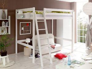 Letto Soppalco Matrimoniale Ikea.Letto A Soppalco Matrimoniale 140 X 200 In Legno Massello Ebay
