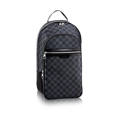 michael damier graphite canvas travel louis vuitton backpacks