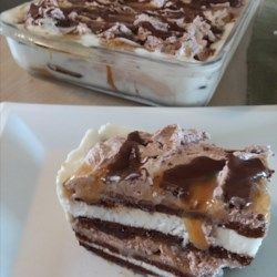 Ice Cream Lasagna with Peanut Butter- Allrecipes com