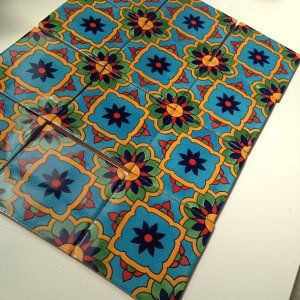 16 Mexican Talavera Tiles Handmade Hand Painted 4 X 4 Talavera Pottery Mexican Handmade