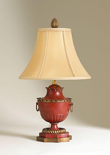 red perkins table lamp