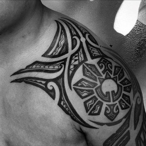Shoulder Filipino Tribal Male Tattoos