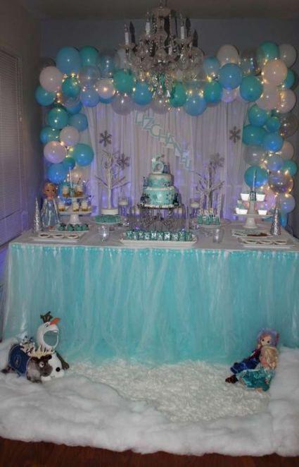 16 Ideas Birthday Themes Decoration Frozen Party Elsa Birthday Party Frozen Birthday Decorations Frozen Birthday Party Decorations