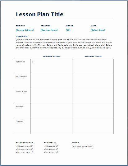 Common Core Lesson Plan Template Doc Elementary Lesson Plan Template Daily Lesson Plan Printable Lesson Plans