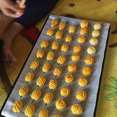 Resep Nastar Daun Jumbo Oleh Xander S Kitchen Resep Nastar Telur Panggang Adonan