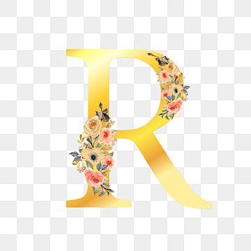 Letra R Dourada Com Floral Fundo Padronizar Flor Imagem Png E Vetor Para Download Gratuito In 2021 Hd Flowers Floral Watercolor Floral Background