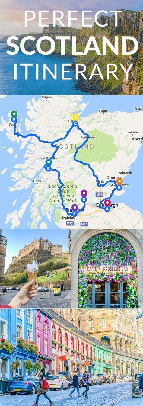 Map Uk Attractions%0A The Ultimate Map Of Things To See When Visiting Scotland   Scotland  Road  trip map and Edinburgh
