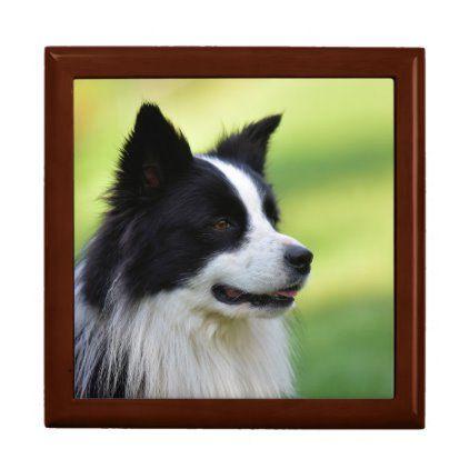 Black And White Border Collie Dog Gift Box Zazzle Com In 2020 Dog Gifts White Border Collie Border Collie Dog