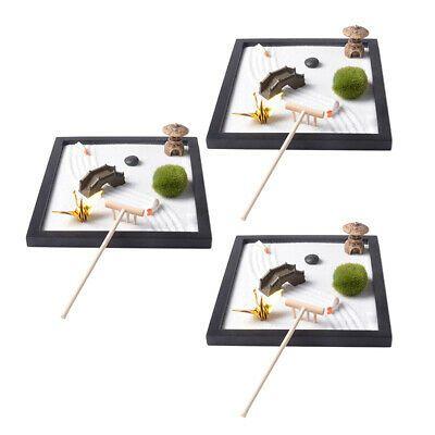 Details About 3pcs Zen Garden Set Sand Bridge Chair Paper Crane Sand Tray Micro Landscape In 2020 Home Decor Decor Inspiration