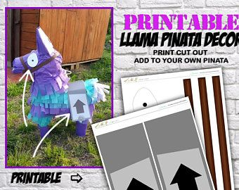 Printable Fortnite Llama Invitations Pin On Molde