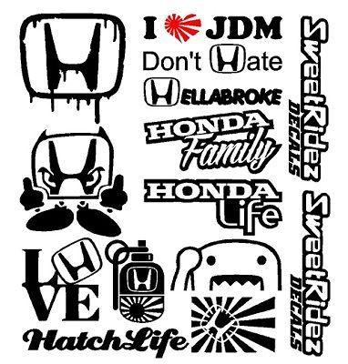 Hoonigan Jdm Sticker Decal Dope Illest Bumper Wall Laptop Domo Window