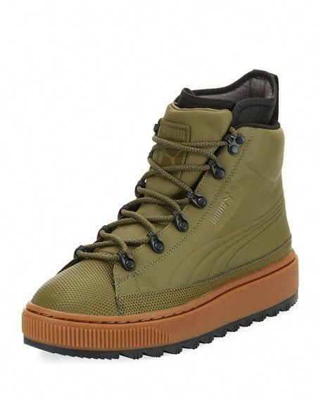 abefe9befbe PUMA The Ren Leather Hiking Boot, Olive. #puma #shoes # #hikingshoes ...