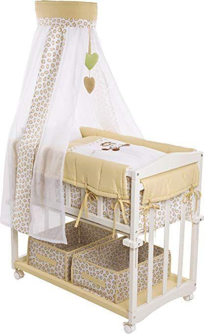 Roba Room Bed 4 In 1 Side Bed Safari Baby Bed Cradle Children S Bench Student In 2020 Babybett Kinder Bett Babyzimmer Wandgestaltung