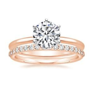 Euclide Engagement Set Engagement Sets Moissanite Engagement Ring White Gold