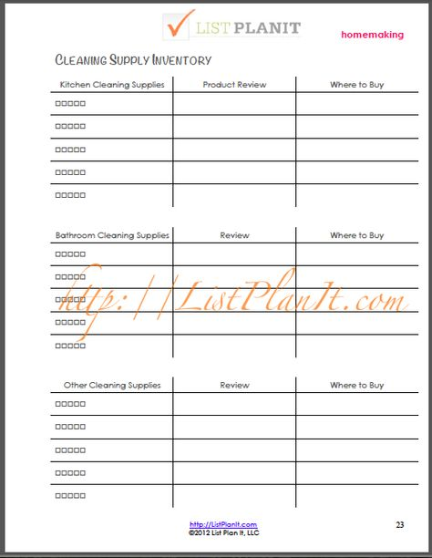 Freezer Inventory List PDF Printable File by DelightfulOrder - inventory list for landlords