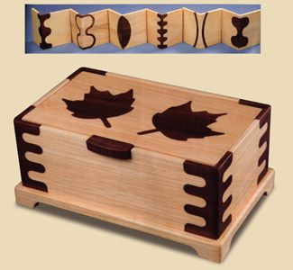 Inlaid Maple Leaf Jewelry Box Plans Jewelry and other small boxs