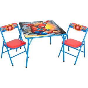 Folding Table and Chair Set Spider-Man | For Jovanni room | Pinterest | Folding tables and Spiderman  sc 1 st  Pinterest : avengers table and chair set - pezcame.com