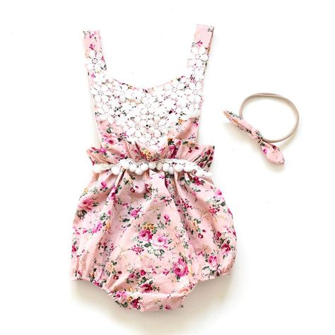 Newborn Baby Girl Floral Romper Ruffles One Pieces Jumpsuit Outfit Photography