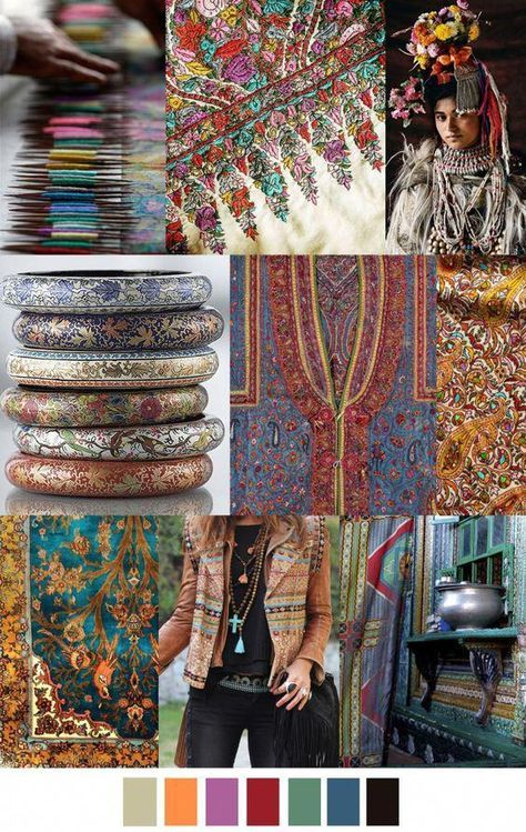 KASHMIR COLLAGE is today's colour & theme combo. Lots of rich shades and an Indian type vibe x