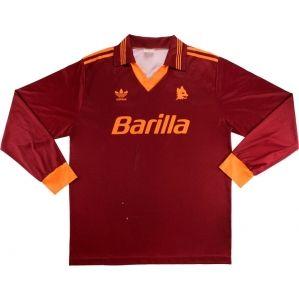 1993 94 Roma Match Issue Signed Home L S Shirt 11 Rizzitelli Vintage Football Shirts Classic Football Shirts Football Shirts