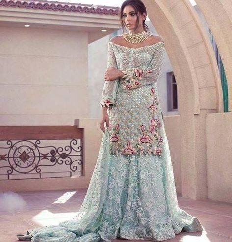 Beautiful Pakistani Indian Wedding Bridal Dress Online - Pakistani Indian Fashion Online at Nameera