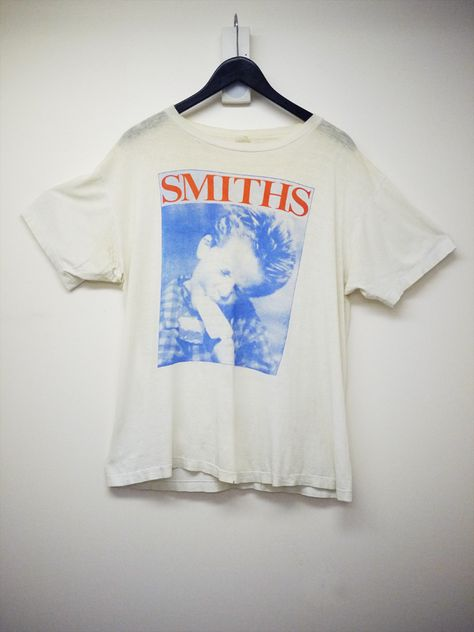 """d87a9d5c beyondretrouk: """" This amazing and well loved The Smiths """"The Queen is Dead""""  86 tour t-shirt came through or Cheshire St store a few weeks ago."""