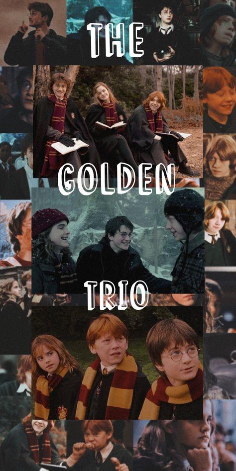 The Golden Trio Aesthetic Wallpaper