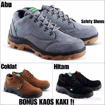 Jual Sepatu Pria Kickers Safety Low Boot Kulit Suede Mercy Asli