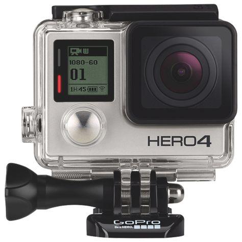 New!                         GoPro HERO4 Waterproof HD Sports and Helmet Camera - Silver Edition