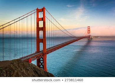 Free Virtual Backgrounds For Zoom Skype And More Shutterstock Golden Gate Bridge Sunset Views Background