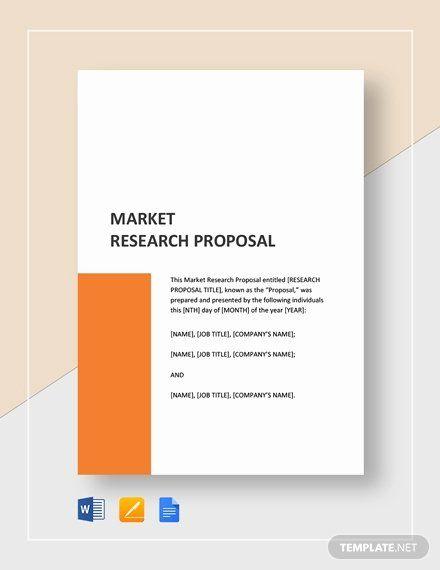 Market Research Proposal Example Unique Market Research Proposal Template Word Research Proposal Research Proposal Example Proposal Templates