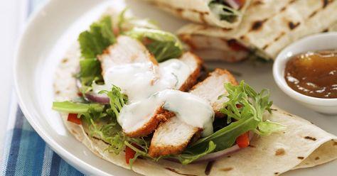 Tandoori Chicken Wraps with Yogurt Dressing | Recipe