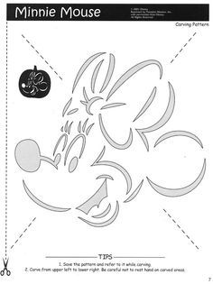 photo about Minnie Mouse Pumpkin Stencil Printable referred to as Pinterest