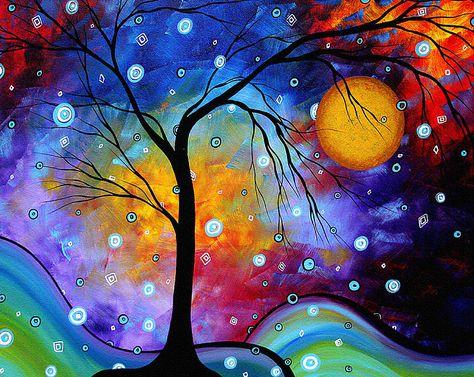 Winter Sparkle Original Madart Painting